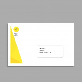 Enveloppes personnalisées Premium Blanches ou Kraft (impression offset) - Imprimerie My Yellow