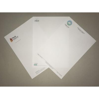 Tête de lettre / Papier à en-tête Impression numérique - Imprimerie My Yellow